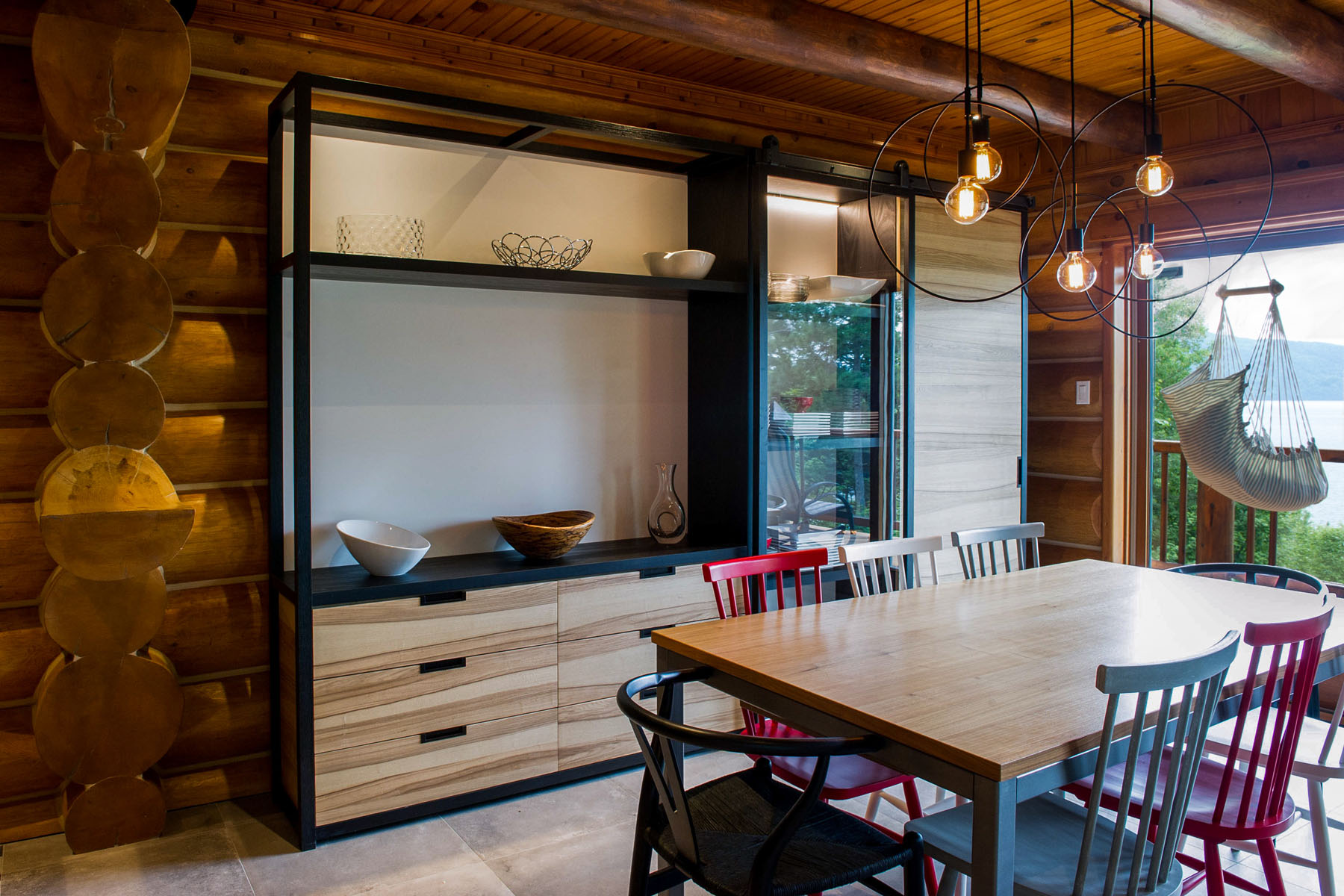 R Novation Maison Bois Rond Bord De L Eau Kalla Cuisine Design # Maison Bois Bord De L Eau