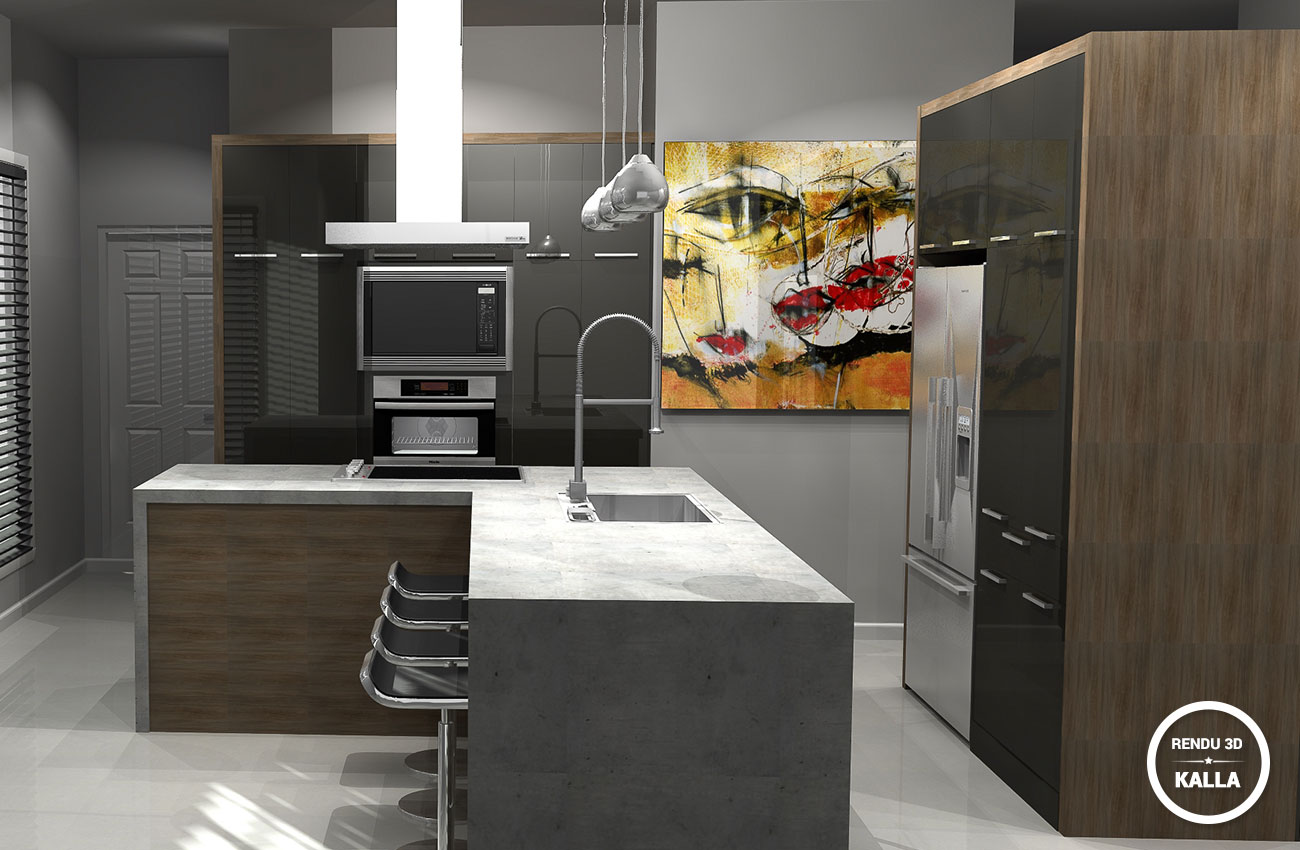 Services kalla cuisine design for Cuisine 3d design bromont