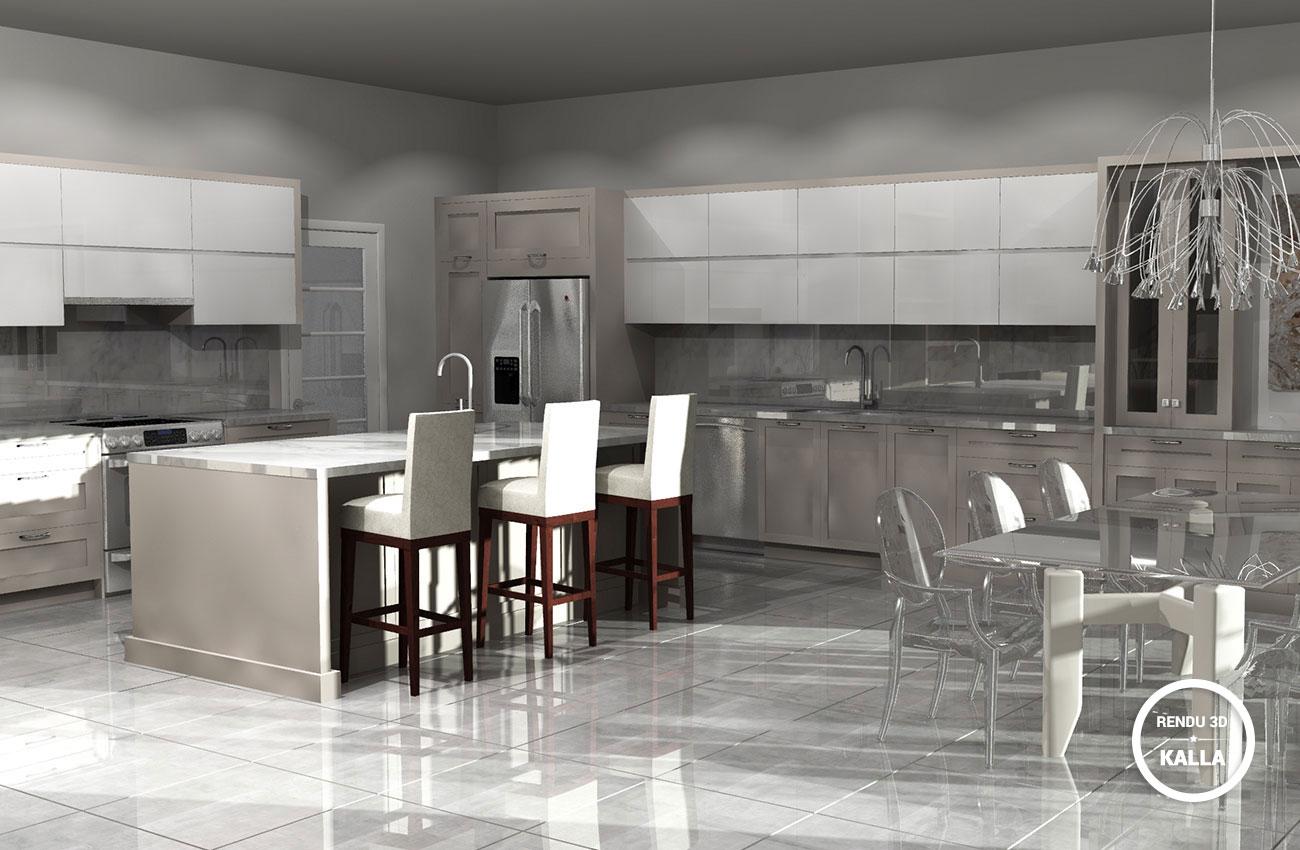 3d cui lemay2 kalla cuisine design for Design cuisine 3d