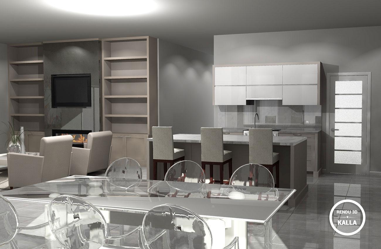 3d cui lemay3 kalla cuisine design for Design cuisine 3d